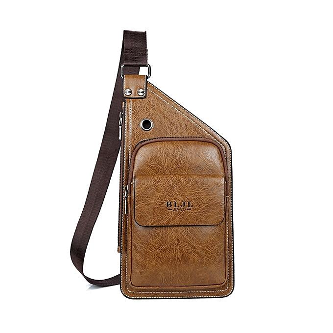 Men Leisure Pu Leather Chest Bag Durable Crossbody Bag Vintage Anti-tear  Shouler Bag 6ac8291f87c5a