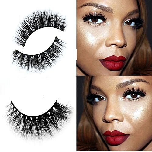 c6acceac1be QIBEST bluerdream-3D Mink Makeup Cross False Eyelashes Eye Lashes Extension  Handmade-Black