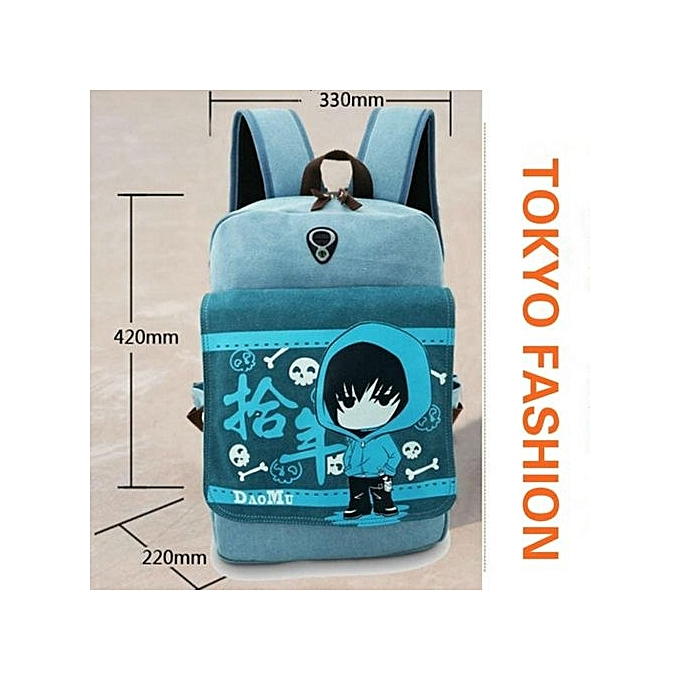 61c9f2943eb3 ... Kisnow Japan Fashion High Quality Retro Canvas Anime Backpacks(Color As  Main Pic) ...