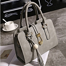 Africanmall store Fashion Women Handbags Shoulder Bags Tote Bag Female Retro Messenger Bag GY-Gray