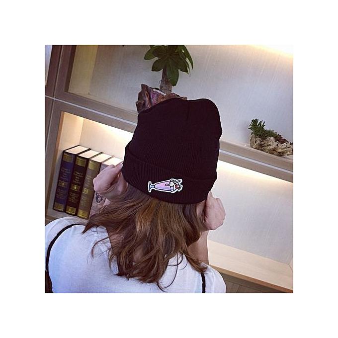 38ac8bf5 Eissely Women Winter Keep Warm Embroidery Applique Crochet Ski Hat Braided  Cap