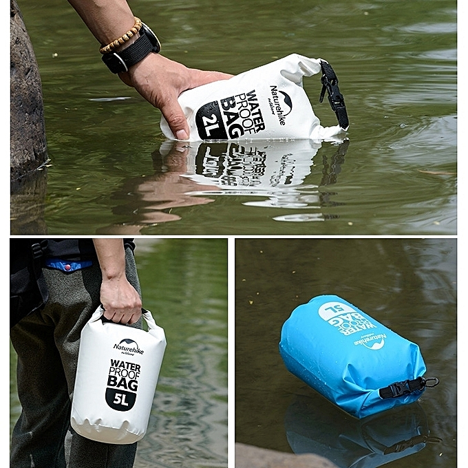 1b9794afba ... Naturehike 2l Outdoor Pvc Cloth Trekking River Drifting Waterproof Bag  Ultralight Swimming Bag(orange)