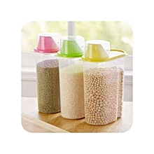 Set of 3 Transparent Plastic Cereals Storage Containers.-2.5Litres