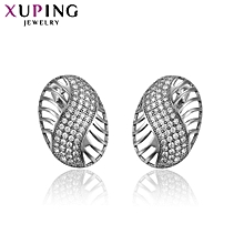 XUPING  fashion Crystal Earrings-Platinum