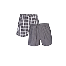 Black Checked Male Boxer Set