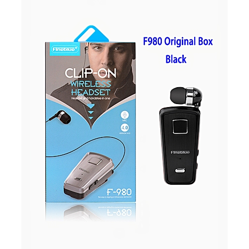 33d78d6988f Fineblue 2018 New Sale Fineblue F980 Wireless In-Ear Handsfree with Microphone  Headset Mini Bluetooth Earphone(# Box Black)