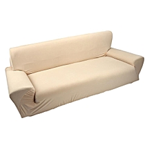 3 Seater Polyester Sofa Chair Cover Couch Case Beige