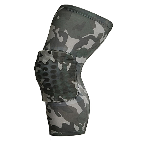Honeycomb Pad Crashproof Antislip Basketball Leg Knee Long Sleeve Protector Gear Camouflage XL