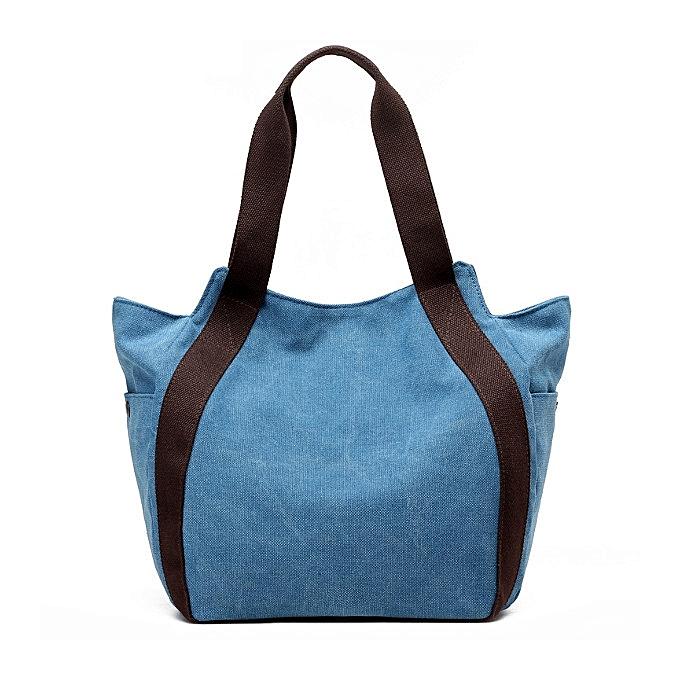 Women Canvas Shoulder Bags Vintage Tote Handbags Casual Shopping Bags ... 58ca0493b5