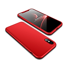 GKK for   iPhone X / XS   PC 360 Degrees Full Coverage Protective Case Back Cover(Red)
