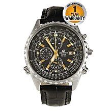281a2b666e62 Classy Black Leather Strap Watch