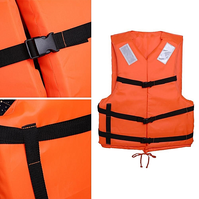 b4370791cea ... Orange Prevention Flood Adult Foam Swimming Life Vest With Reflective  Strap and Whistle ...