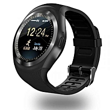 Y1 Sports Smart Phone Touchscreen Trendy Watch - Black