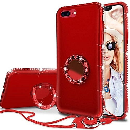 the latest ba14b 46e4b IPhone 8 Case, Phone Case, Bling Sparkly Diamond Rhinestone Kickstand Ring  Holder Slim Protective Phone Cover For Apple IPhone 8 - Red