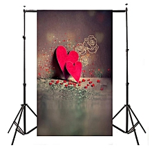 3x5ft Vinyl Red Heart Wall Photography Backdrop Background Photo Props Studio