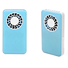Portable Handheld USB Mini Air Conditioner Cooler Fan Rechargeable Battery -Blue
