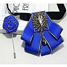 Barrister Bow Tie with Lapel Pin