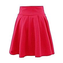 9b8d6d9faac7 Bluerdream-Women's Party Cocktail Mini Skater Skirt-Red
