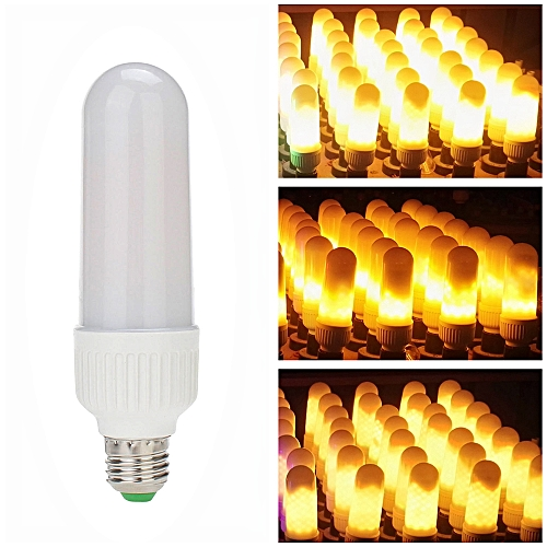 LED Fire Effect Light Bulb E27 Base Always Bright/Flame Flickering/  Breathing Mode SMD2835 Creative Decorative Atmosphere Lamp for Party  Holiday