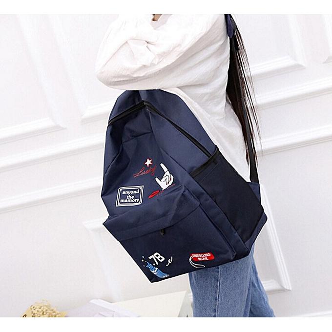 ... huskspo Women Girls Preppy Letter Print Shoulder Bookbags School Travel  Backpack Bag ab7d03747a84e