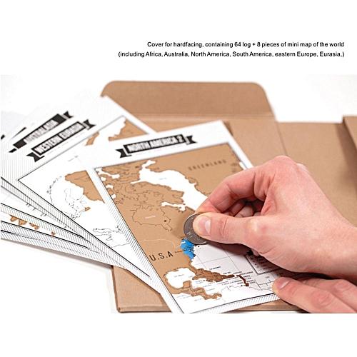 Buy generic travel log travel journal portable brown gift 8 world travel log travel journal portable brown gift 8 world map travelogue tourist notebook scratch gumiabroncs Choice Image