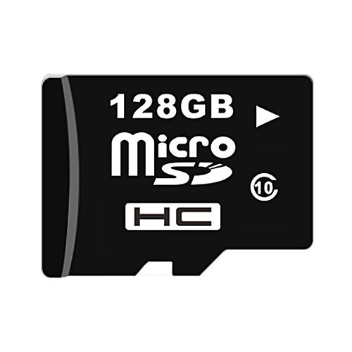 HighSpeed Micro SDHC Class6 TF Card 128G Smartphones Tablets - black