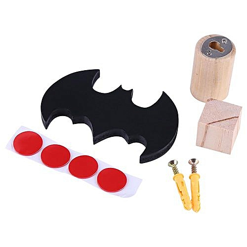 Generic Minxin Multi Use Cute Bat Shape Wooden Clothes Hook Kids Children Room Wall Decorate Hanger Organizer