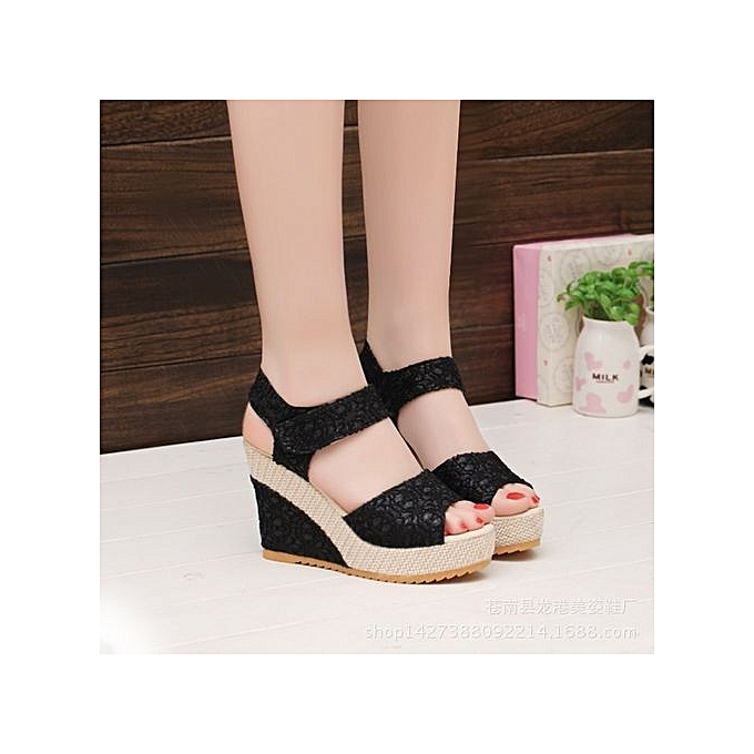 cd172e7f45e New Item From Yang: Elegant Sandals Women Wedges Shoes Fashion Platform  High Heels Sandals Women Open Toe Platform Wedges Straw Braid Velvet ...