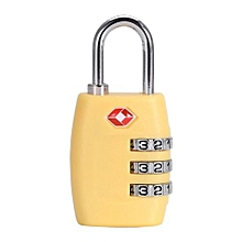 Fashion Resettable Digit Combination Password Travel Luggage Case Lock(Yellow)
