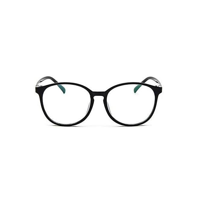 b50ba0be230 Men Women Clear Plain Lens Oval Plastic Full Frame Glasses Specs Eyeglasses  HOT Black