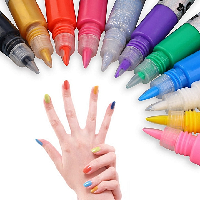 Buy Allwin 3D Nail Art Polish Painted Pen Liner Painting Pen Carved ...