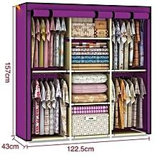 3 Column Portable Wardrobe- - Purple