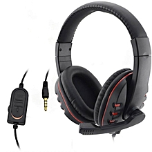 PS4 Luxury Big Headphones,Wired 3.5MM Headset Headphone Earphone Music Game Microphone For PS4 Game PC Chat
