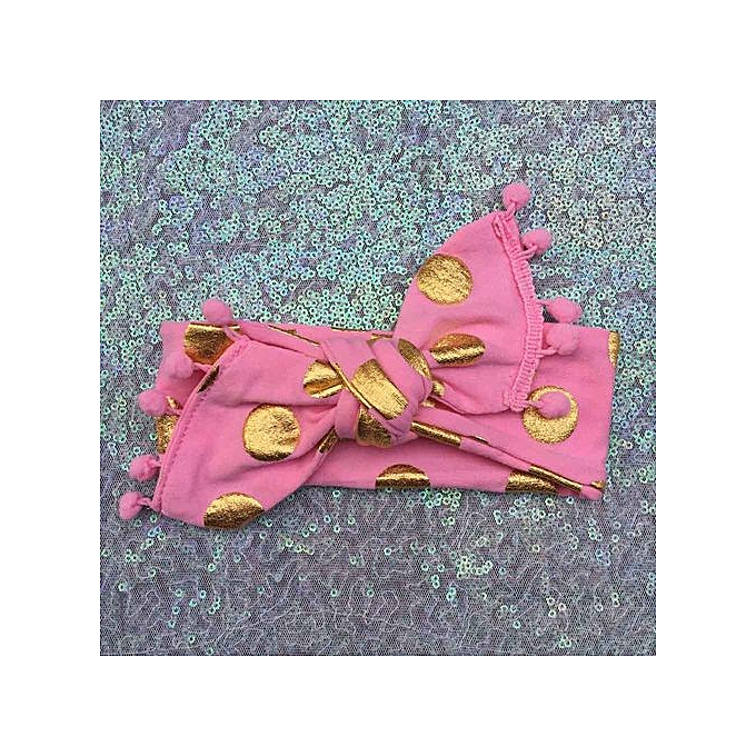 7e4d6c9acbb Braveayong Kids Girls Baby Headband Toddler Bowknot Gold Dot Hair Band  Accessories Headwear -Pink