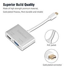 MDP Mini DisplayPort To HDMI 4K VGA 1080P Cable Adapter Converter Silver