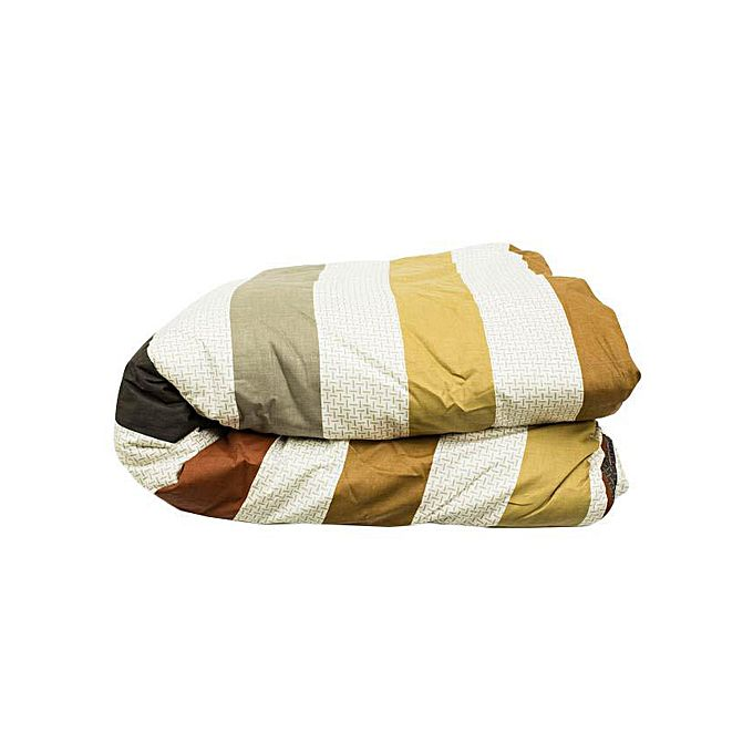 Modern Reversible Duvet Set 5x6 Stripped Brown