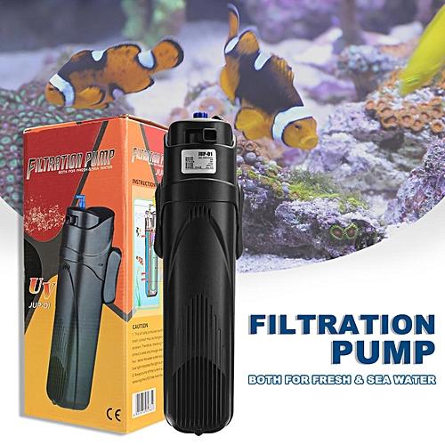 9W UV Submersible Pump Filter Pump Light Aqua Oxy Fish Tank Aquarium