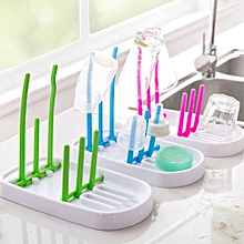 Portable Folding Baby Bottle Draining Rack, Random Color Delivery