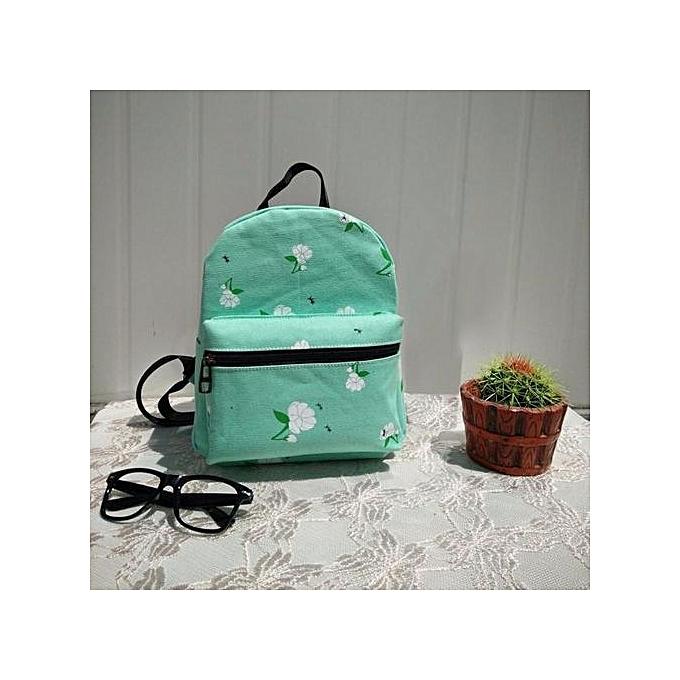 64dba8b846 Xingbiaocao Women Backpack Canvas School Bag Rose School Backpacks Shoulder  Bags GN -Green