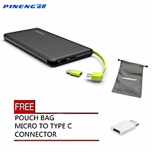 ( FREE POUCH AND TYPE-C CONNECTOR ) Pineng PN-951 PN951 PN 951 10000mah powerbank BGmall