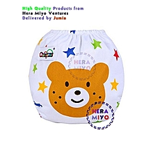 Infant Reusable Washable Adjustable cloth Diapers BEAR cartoon with 2 inserts