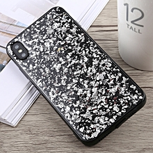 Glittery Powder Shockproof Soft TPU Case for iPhone XS Max(Silver)