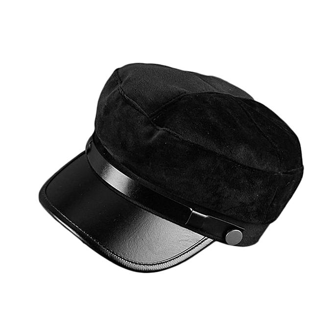78156a8e582 TB Autumn Winter Unisex Solid Color Visor Hat Adjustable Casual Military Cap  black