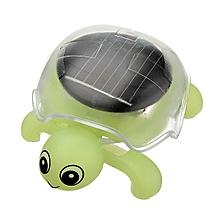 Mini Sunlight Solar Educational Toy Little Tortoise Turtle Gift -blue