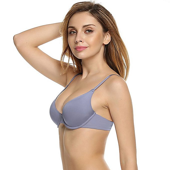 Cyber Ekouaer Underwire Memory Foam Solid 3/4 Cup Push Up ...
