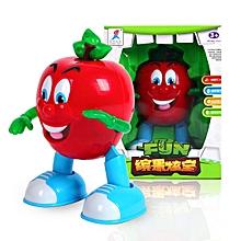 Electric Dancing Lighting Apple Pear Fun Toy Gift-apple