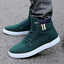 2016 Hot Fashion Mens Shoes Leather Shoes Casual High Top Shoes Canvas Sneakers