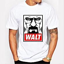 Refined Men's Fashion Art Design Heisenberg Printing T-shirt Refined Breaking Bad Tee Shirts Hipster Cool Tops-Color 9