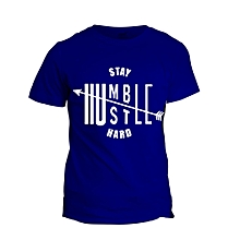 Royal Blue Stay Humble T-shirt  Design