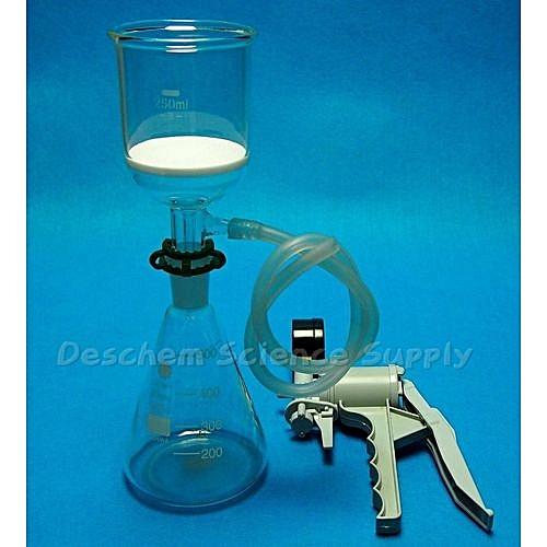 24/40,Lab Suction Filtration Filter Kit,Buchner Funnel, 500ml Glass Flask &  Hose